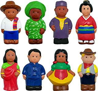 Get Ready Kids Around The World Figures, Set of 8, 5""