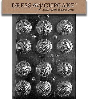 Dress My Cupcake Chocolate Candy Mold, Golf Balls 3D