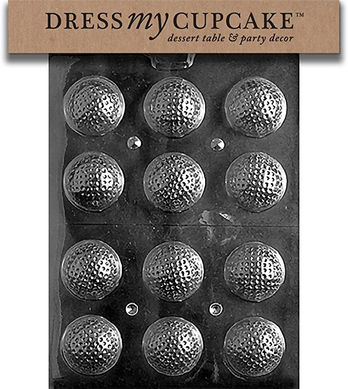 Dress My Cupcake Chocolate Candy Mold Golf Balls 3D
