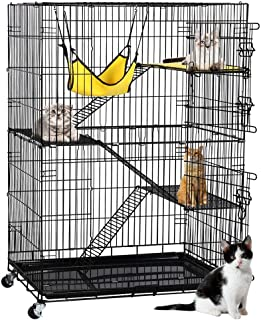 Yaheetech Large Pet Cat Cage Kitten Crate Enclosure