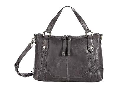 Frye Melissa Medium Crossbody (Carbon) Handbags