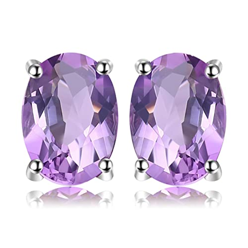 be3835dc6c JewelryPalace Oval Round Trillion Pear Shape Natural Purple Amethyst  Citrine Red Garnet Green Peridot Blue Topaz
