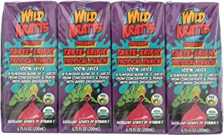 Whole Foods Wild Kratts, Organic Taste-erific Tropical Punch, 8 Count