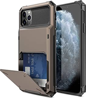 Elegant Choise Compatible iPhone 11 Pro 5.8 inch Case, Wallet (4 Card) Credit Card Slot Holder Case Hybrid Dual Layer Rugged Shockproof Full Body Protective Bumper Rubber Armor Cover(Black)