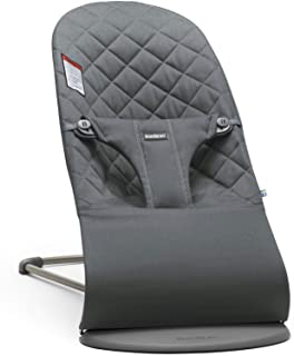 BabyBjörn Bouncer Bliss, Quilted Cotton, Anthracite (006021US)