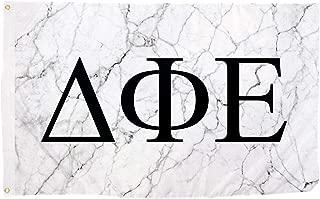 Desert Cactus Delta Phi Epsilon Light Marble Sorority Letter Flag Banner 3 x 5 Sign Decor DPhie - Light Marble