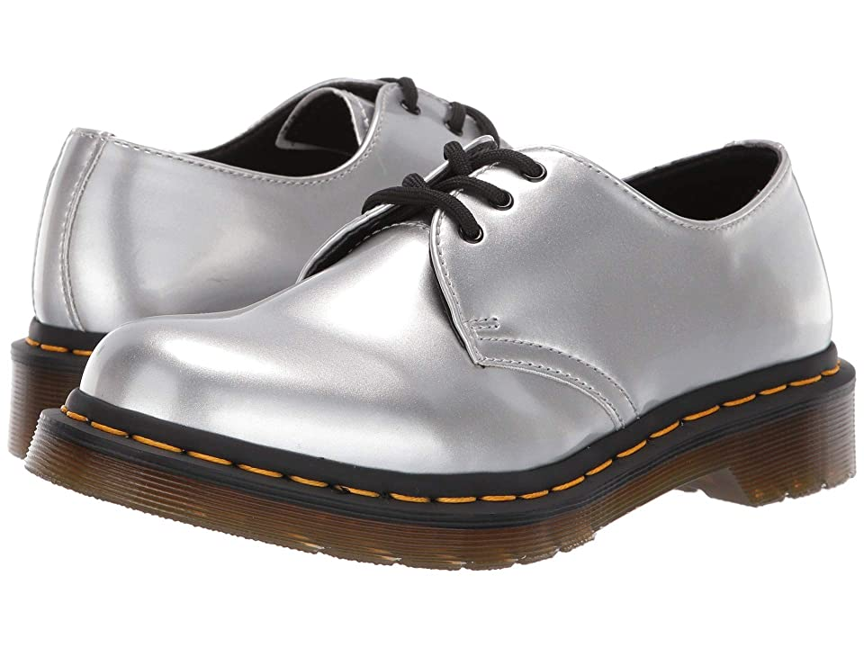 Dr. Martens 1461 Vegan Metallic Chrome (Silver) Women