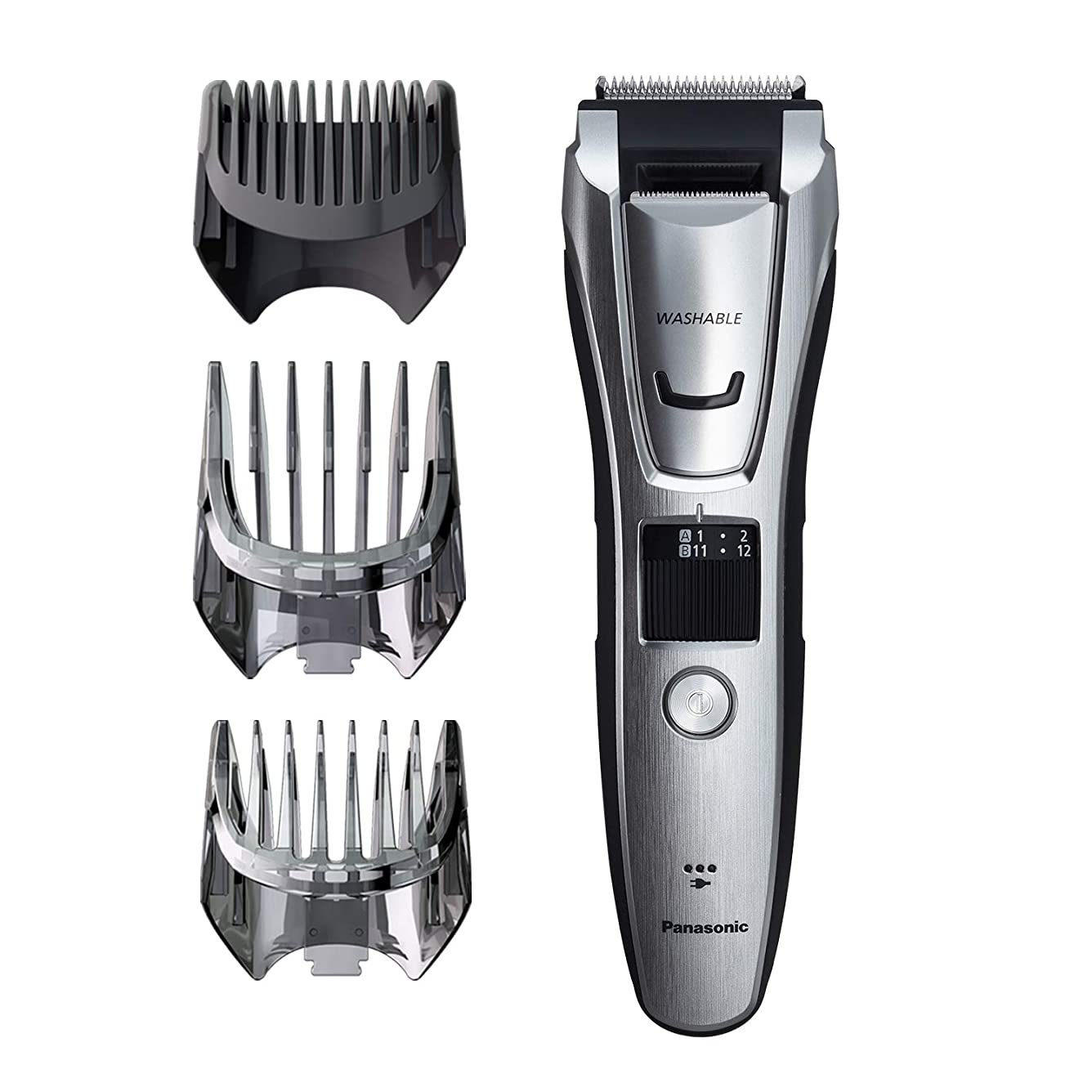 はっきりしない正確シフトPanasonic ER-GB80-S Body and Beard Trimmer, Hair Clipper, Men's, Cordless/Corded Operation with 3 Comb Attachments and and 39 Adjustable Trim Settings, Washable