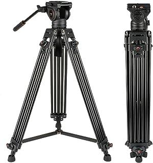 Sistema de trípode de Video Cayer 72 Pulgadas BV30L-Camcorder Sistema de trípode Pierna de Aluminio K3 Fluid Head Carga máxima 13.2 LB DSLR Shooting Plus 1 Bonus Quick Release Plate