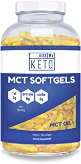 Kiss My Keto MCT Oil Capsules - Coconut Oil Softgel Pills, 300 Count, Best MCT Oil Keto Diet Pills, Caprylic Acid C8 + Capric Acid C10 Medium Chain Triglycerides Ketosis Diet Supplement