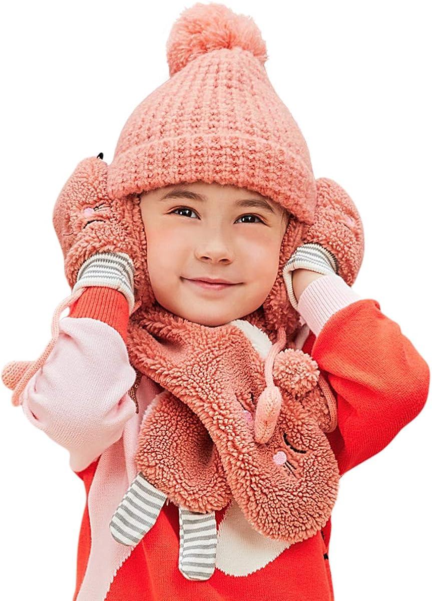 DORRISO Children's safety Warm Hat 3 Piece Baby Scarf Same day shipping K Gloves Kids