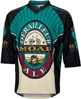 World Jerseys Men's Moab Brewery Derailleur Ale 3/4 Sleeve Mountain Bike Jersey