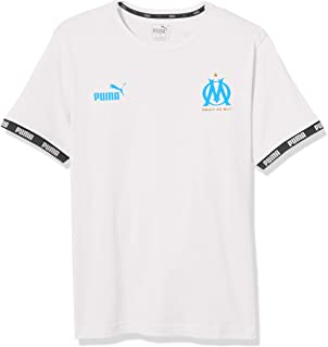 PUMA Men's Standard Olympique de Marseille FTBL Culture TEE, White, XX-Large