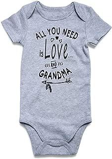 Loveternal Neutral Baby Girls Boys Cotton Romper Cute Saying Aunt Onesie Newborn Clothes 0-12 Months