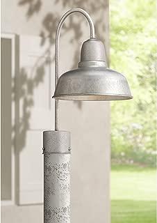 Urban Barn Industrial Outdoor Post Light Fixture Galvanized Steel Vintage 15 3/4
