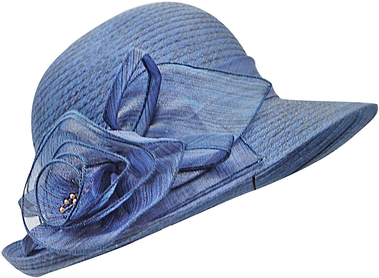 Bellady Women Organza Derby Church Wedding Fascinators Cloche Bucket Bowler Hat