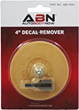 ABN Rubber Eraser Wheel 4in Pad & Adapter 1-Pack – Pinstripe, Adhesive Remover, Vinyl Decal, Graphics Removal Tool