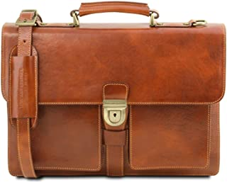 Tuscany Leather Assisi Cartella in pelle 3 scomparti Miele