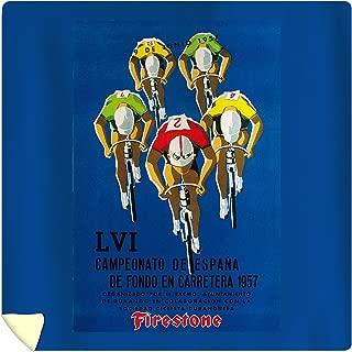 Lantern Press Bicycle Race - Vintage Advertisement 41248 (88x88 Queen Microfiber Duvet Cover)