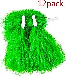 PUZINE 12pack Cheerleading Plastic Pom Poms (1 Dozen)