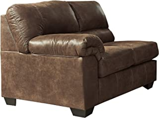 Ashley Furniture Signature Design - Bladen Contemporary Left Arm Facing Loveseat - Sectional Component ONLY - Coffee