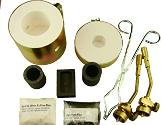 Mini Propane Gas Furnace Kit - Mold, Kiln, Flux, Tips, Crucibles & Tongs - MELT Gold & Silver
