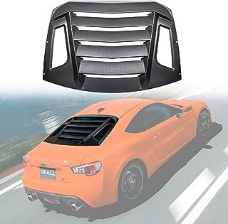 Opall For 2012-2018 Subaru BRZ/Scion FR-S/Toyota GT86 Rear Window louvers Windshield ABS Window Scoop Cover Rain Sun Guard Wind Deflector Matte Black