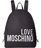 LOVE Moschino - Canvas Embroidery Backpack