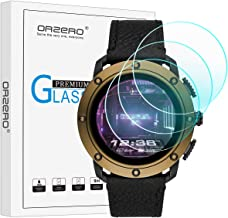 (3 Pack) Orzero Compatible for Diesel on Axial Smartwatch Tempered Glass Screen Protector, 2.5D Arc Edges 9 Hardness HD Anti-Scratch Bubble-Free (Lifetime Replacement Warranty)