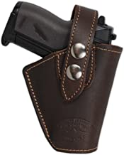 Barsony New Brown Leather Concealment OWB Belt Clip Holster for Mini 22 25 .380
