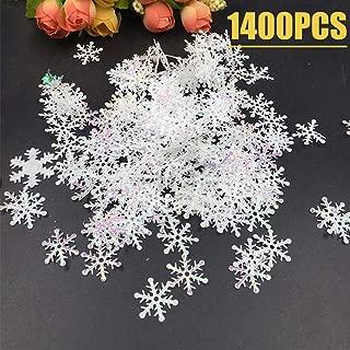 1200pcs Winter Wonderland White Snowflake Decorations - Snowflake Confetti Christmas Decorations/Xmas/Holiday/Birthday Party Supplies