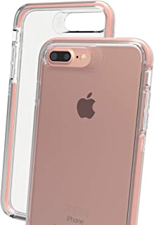 Gear4 Piccadilly Cell Phone Case with Advanced Impact Protection [ Protected by D3O ], Slim, Tough Design for iPhone 6 Plus / 6S Plus / 7 Plus / 8 Plus – Rose Gold