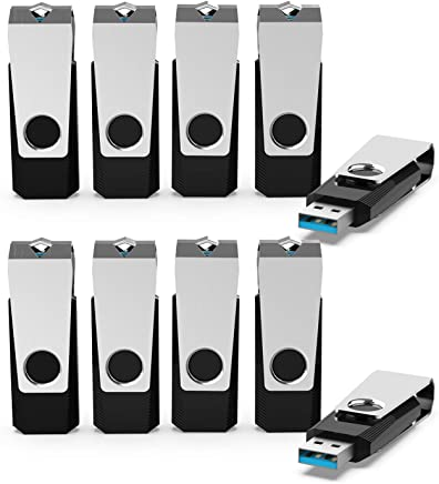 USB Flash Drives, KEXIN 10 Pack 64 GB USB 3.0 Flash...