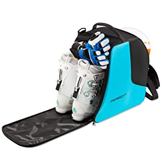 PENGDA Ski Boot Bag -Ski Boots and Snowboard Boots Bag Waterproof Travel Boot Bag for Ski Helmets, Goggles, Gloves, Ski Apparel & Boot Storage(2 Separate Compartments)