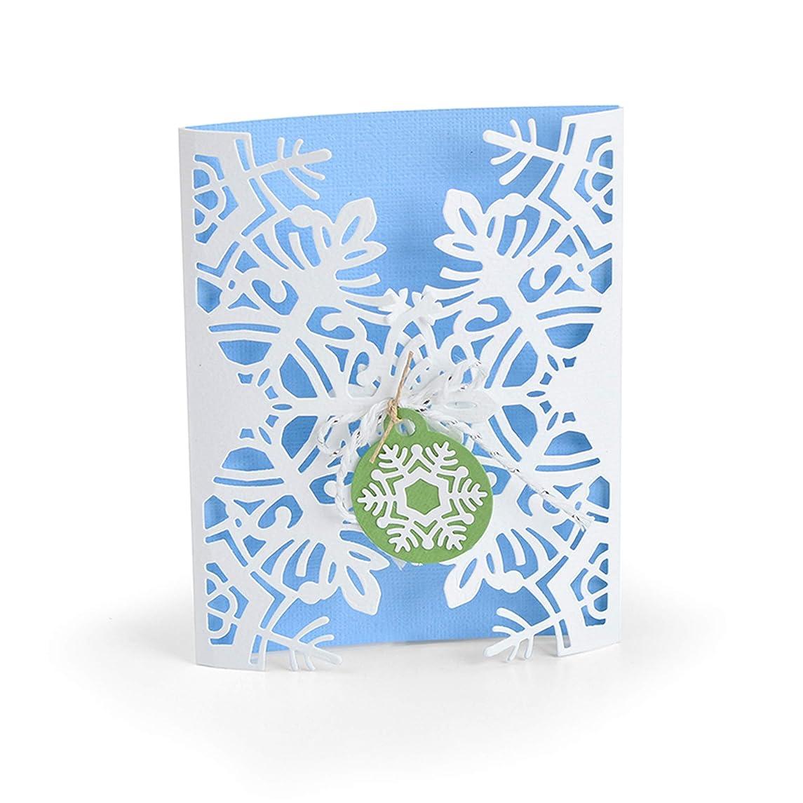 Sizzix 663606 Card Wrap Snowflake by Jordan Caderao Dies, Multicolor