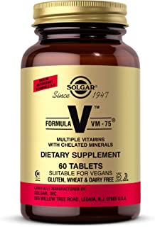 Solgar Formula VM-75, 60 Tablets - Multivitamin with Chelated Minerals - Vitamin A, B6, B12, C, D, E - Biotin, Magnesium, ...