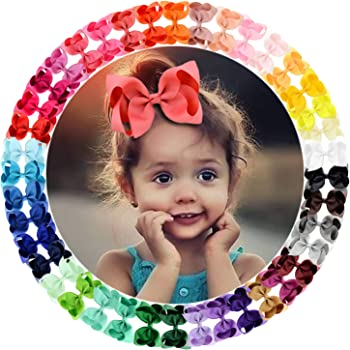5 Pcs Hair Bows Clips Toddler Hair Accessories for Baby Girls Infants Toddlers Kids Teens Carrot