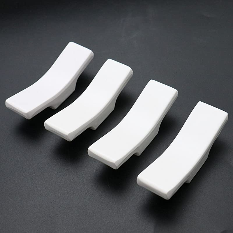 HUELE Set Of 8 White Porcelain Knife Rests Chopstick Rest Set