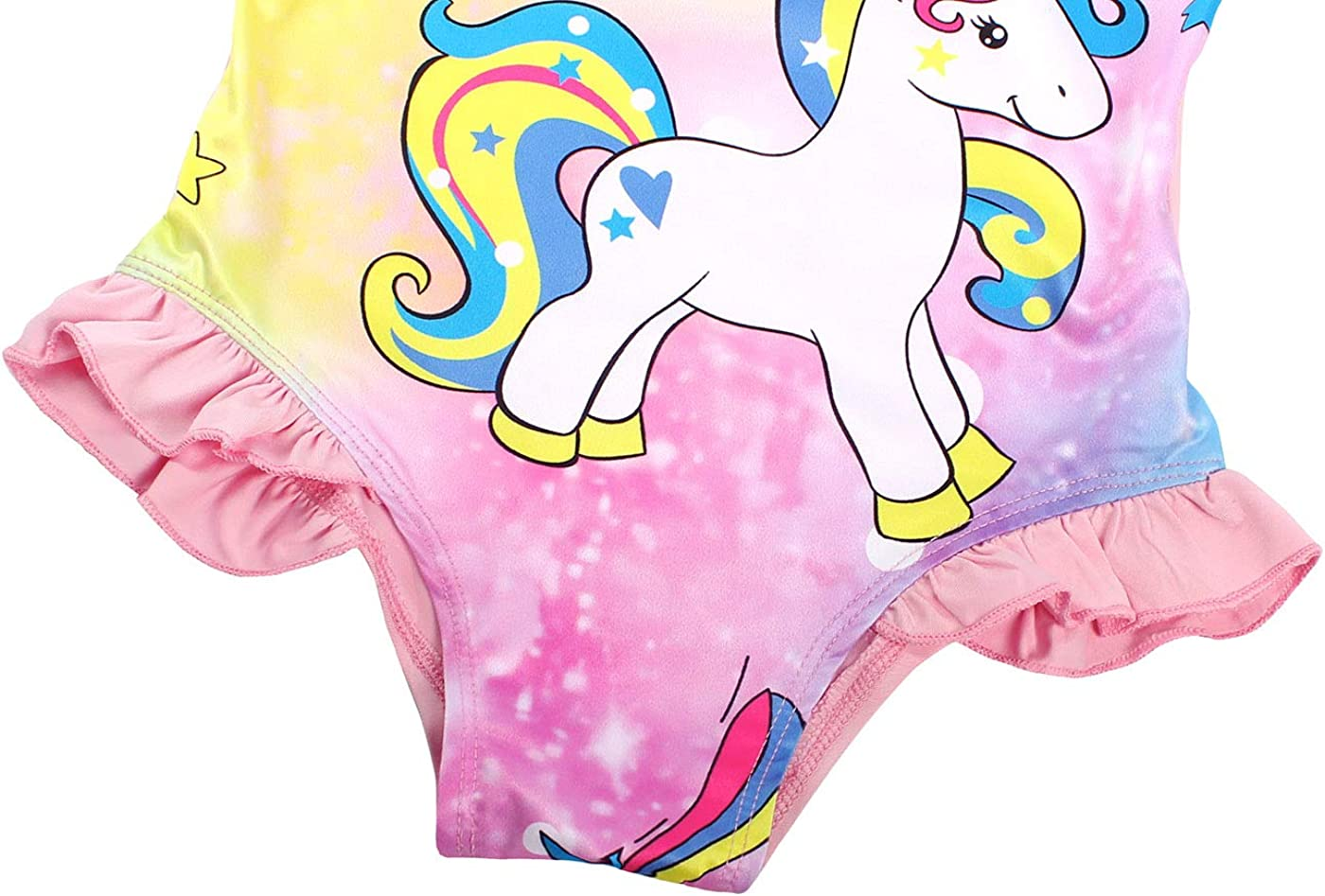 Jurebecia Ragazze Unicorno Un Pezzo Costumi da Bagno Senza Maniche Colorato Costume da Bagno Bambini Piscina Spiaggia Vacanza