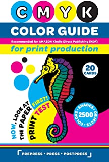 CMYK Color Guide for Print Production. Recommended for AMAZON Kindle Direct Publishing (KDP): Now, look at the paper first...
