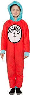 Dr Seuss Thing 1 & 2 Interchangeable Patches Adult or Kids Pajama Costume