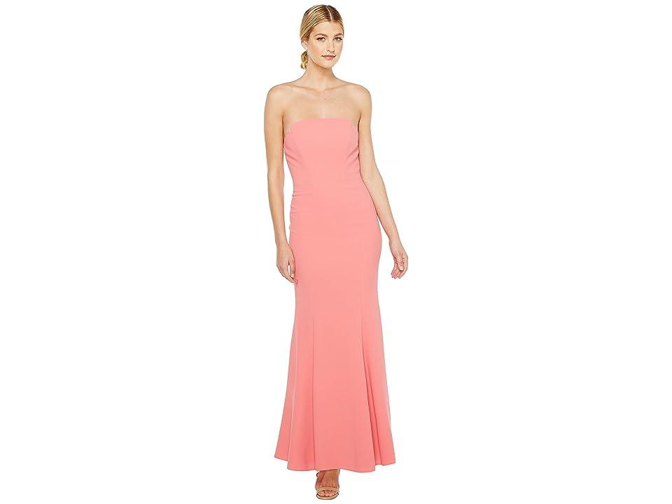 JILL JILL STUART Harlow Strapless Hourglass Gown (Hibiscus) Women