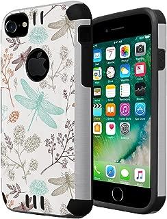 iPhone 7 Case, iPhone 6s Case, iPhone 6 Case, Capsule-Case Hybrid Dual Layer Slim Defender Armor Combat Case (Silver & Black) for iPhone 7 / iPhone 6S / iPhone 6 - (Dragonfly)