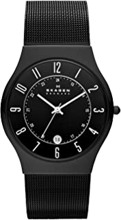 Skagen Men's 233XLTMB Grenen Black Titanium Mesh Watch