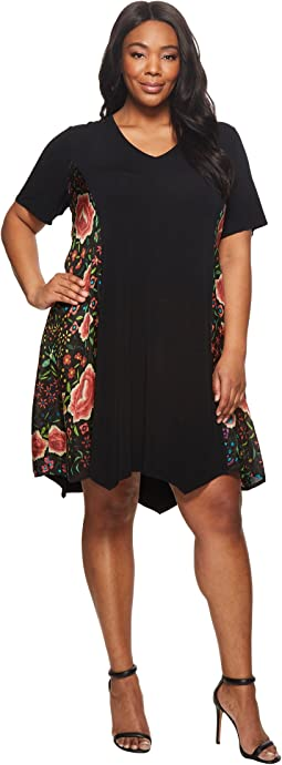 Johnny Was Plus Size Emby Scarf Mix Tunic Dress