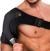 PainFX Shoulder Brace for Men with Rotator Cuff Support and Adjustable Compression Sleeve - Lightweight and Breathable, Prevents Dislocations & Speed Up Recovery from AC Sprains, Bursitis and Tears
