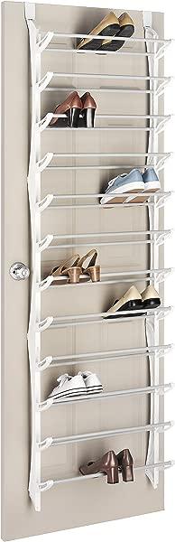 Whitmor Over The Door Shoe Rack 36 Pair Fold Up Nonslip Bars