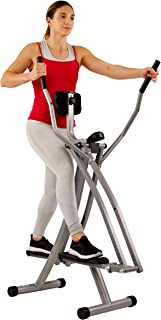 Sunny Health & Fitness SF-E902 Air Walk Trainer Elliptical Machine Glider w/LCD Monitor, 220 LB Max Weight and 30 Inch Stride