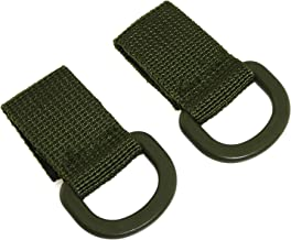 RuiLing 2pcs D Type Tactical Molle Nylon T-Ring Key Holder for Bags Webbing Attachment Strap Backpack Buckle Accessories(Black) NB-D-G2