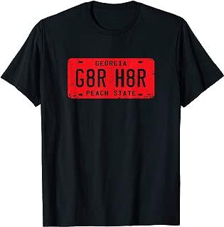 G8R H8R Georgia License Plate Football T-Shirt